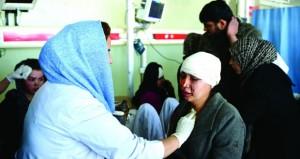 عشرات القتلى والجرحى في هجوم انتحاري دامٍ تبنته (طالبان) في أفغانستان