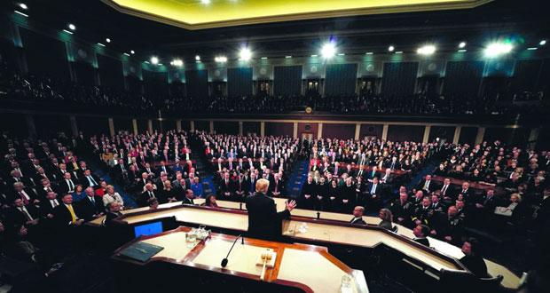 في خطابه حول حال الاتحاد .. الرئيس الأميركي يدعو إلى الوحدة ويحث على سياسات متشددة للهجرة
