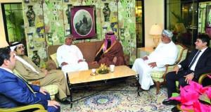 رئيس اتحاد السلة يبحث تعزيز التعاون المشترك مع سلة مملكة البحرين