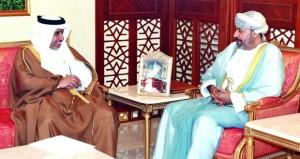وزير الداخلية والمفتش العام للشرطة والجمارك يستقبلان الأمين العام لمجلس وزراء الداخلية العرب