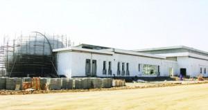 تواصل الأعمال الإنشائية لمبنى مركز لوى الثقافي و 77% نسبة الإنجاز