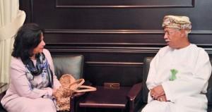 الرواس وعبدالمنعم الحسني يستقبلان رئيسة هيئة البحرين للثقافة والآثار