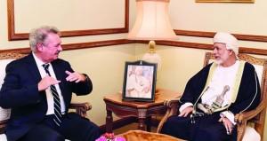 الوزير المسؤول عن الشؤون الخارجية يستقبل وزير خارجية لكسمبورج