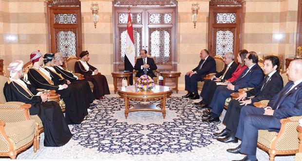 الرئيس المصري يبحث مع فهد بن محمود الارتقاء بالتعاون الثنائي