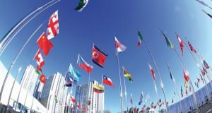 رفع العلم الكوري الشمالي ضمن فعاليات (الأولمبية الشتوية) بالجنوب