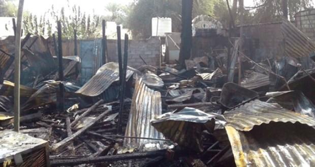 الدفاع المدني يتمكن من السيطرة على حريق بسوق قريات