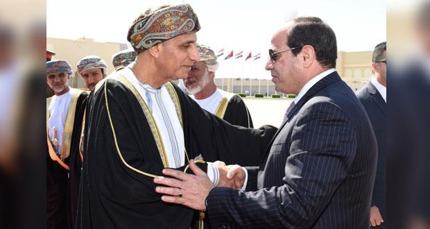 رئيس جمهورية مصر العربية يختتم زيارته للسلطنة