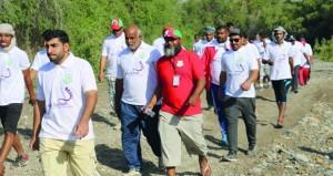 فريق بلاد سيت ينظم فعالية المشي الجماعي