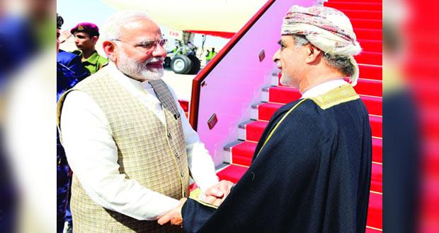رئيس وزراء جمهورية الهند يغادر السلطنة