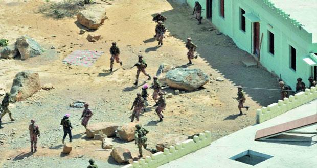 الجيش السلطاني العماني ينفذ البيان العملي للتمرين المشترك (عاصفة الجبل )