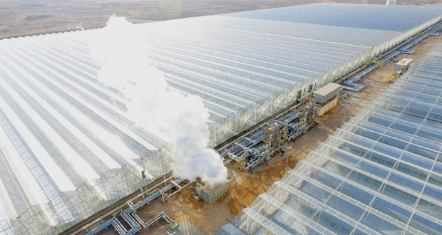 """(أمل) يدشن محطة """"مرآة"""" لتوليد البخار بالطاقة الشمسية"""