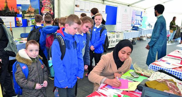 مشاركة جمعية الطلاب العمانيين في المهرجان الثقافي الدولي بجامعة سوانزي البريطانية