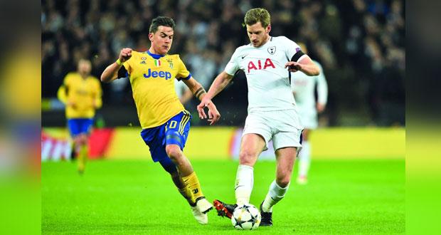 يوفنتوس يقلب الطاولة على توتنهام ويبلغ ربع النهائي في دوري أبطال أوروبا