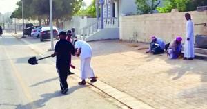 معسكر عمل للنظافة العامة ببلدة الظاهر في بدية