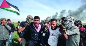 عشرات المصابين خلال قمع الاحتلال لمسيرة مركزية في الذكرى الـ13 لانطلاق المقاومة الشعبية في بلعين