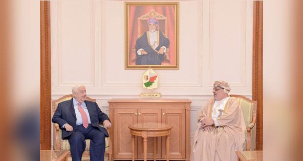 بحث سبل تعزيز مجالات التعاون بين السلطنة وسوريا