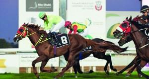 الحصان ريام للخيالة السلطانية يحل وصيفا في بطولة التاج الثلاثي بأبوظبي