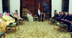مصر والسعودية تؤكدان مواصلة التصدي للتدخلات الإقليمية والفرقة والتقسيم