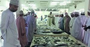 توافر أنواع مختلفة من الأسماك بسوق قريات