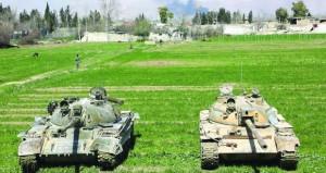 سوريا: الجيش يسيطر على قرية افتريس ويطوق حرستا كاملاً