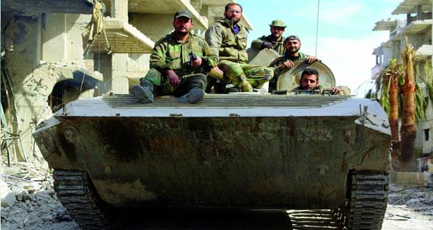 سوريا: انتهاء مهلة الجيش للمسلحين فـي حرستا والقوات تؤمن الأهالي فـي سقبا وكفر بطنا