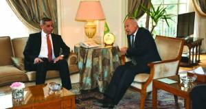 """أبو الغيط"""" يستقبل """"القطراني ويدعو إلي استكمال العملية السياسية في ليبيا"""
