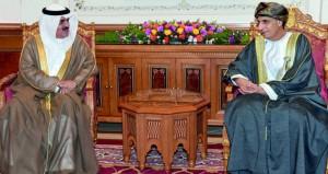 فهد بن محمود يستقبل رئيس مجلس النواب بمملكة البحرين