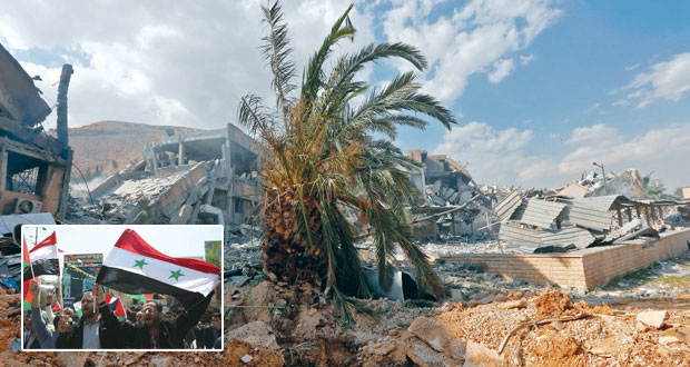 الدفاعات السورية تتصدى لهجوم أميركي بريطاني فرنسي