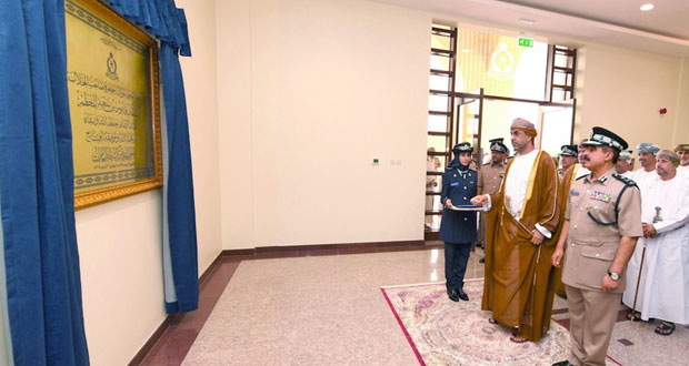الاحتفال بافتتاح المبنى الجديد لمركز شرطة العامرات
