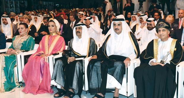 فهد بن محمود يشارك في افتتاح مكتبة قطر الوطنية