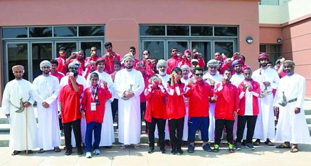 أسعد بن طارق يلتقي أبطال الأولمبياد الخاص العماني وأثنى على جهودهم