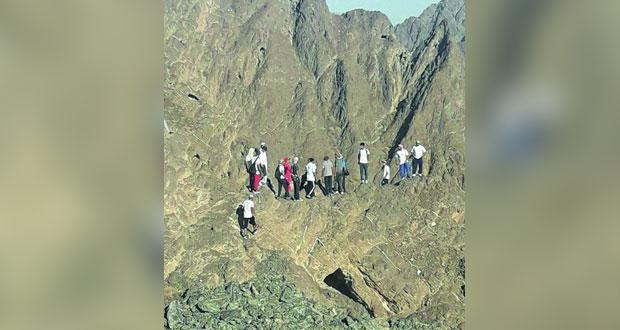 مسير جبلي لفريق حيل الخنابشة الرياضي بينقل