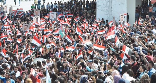 السوريون يؤكدون دعمهم لجيشهم في وجه العدوان