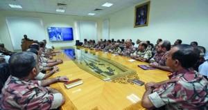 اللجنة العسكرية الرئيسية لإدارة الحالات الطارئة بقوات السلطان المسلحة تواصل اجتماعاتها