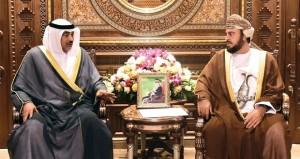 جلالة السلطان يتلقى رسالة من أمير دولة الكويت