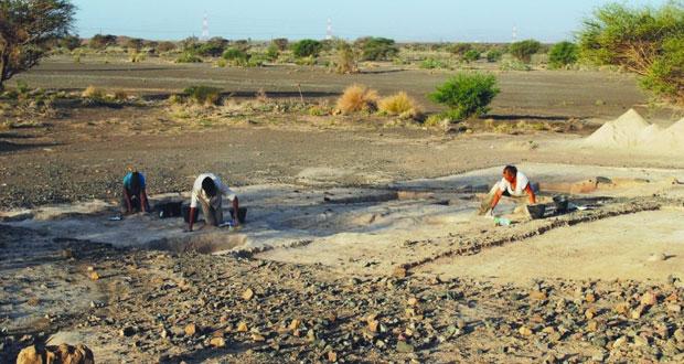 """الكشف عن أقدم الشواهد الأثرية لتعدين النحاس في عمان في """"الخشبة"""" بالمضيبي"""