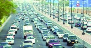 أكثر من 1.4 مليون إجمالي المركبات على طرق السلطنة بنهاية الربع الأول