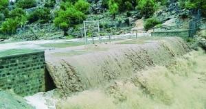 أمطار غزيرة إلى متوسطة على سفوح الجبل الأخضر