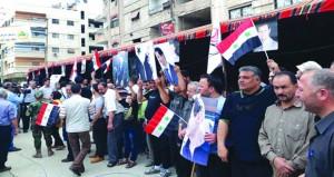 دمشق تجمع حاشد للاحتفال بتحرير بلدات يلدا وببيلا وبيت سحم