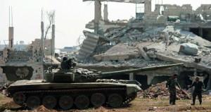 سوريا: الجيش يقترب من إنهاء وجود أرهابي داعش من (الحجر الاسود)