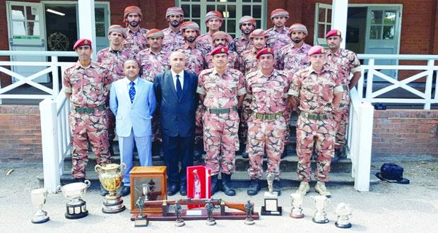 فريق قوات السلطان المسلحة يحصل على مراكز متقدمة في البطولة الدولية العسكرية ببيزلي