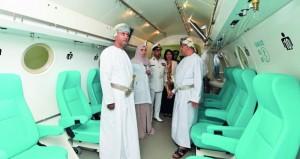الاحتفال بافتتاح مشروع المركز الوطني لطب الأعماق بالمستشفى السلطاني