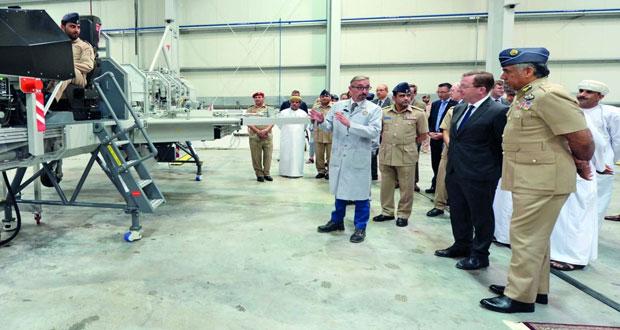 الاحتفال بتسليم المعدات التدريبية للكلية العسكرية التقنية من شركة باننت الدولية البريطانية