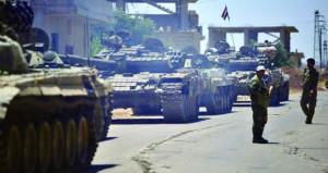 الجيش السوري يستعيد السيطرة على (الغارية الغربية) بدرعا .. وانضمام بلدات وقرى جديدة إلى (المصالحات)