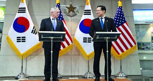 واشنطن وسيئول : إبقاء العقوبات على بيونجيانج إلى أن تتخذ (خطوات ملموسة)