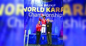 هشام البوسعيدي يتوج بذهبية البطولة العالمية للكاراتيه بإسكتلندا