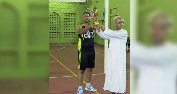 الإدارة العامة للنقليات بشرطة عمان السلطانية تختتم بطولة الكرة الطائرة