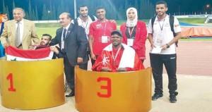 4 ميداليات ملونة لمنتخبنا لألعاب القوى لذوي الإعاقة