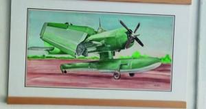 التشكيلي الجزائري عيسى خليفي ينذر فنّه لرسم الطائرات العسكرية