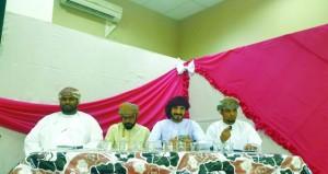 لجنة كتاب وأدباء محافظة الظاهرة تحتفل بيوم النهضة المباركة